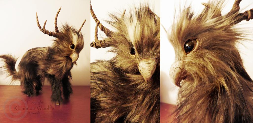 Gryphon/deer -Handcrafted- Rhiannon Woolf by RhiannonWoolf