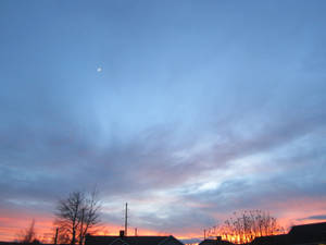 December sky in slc