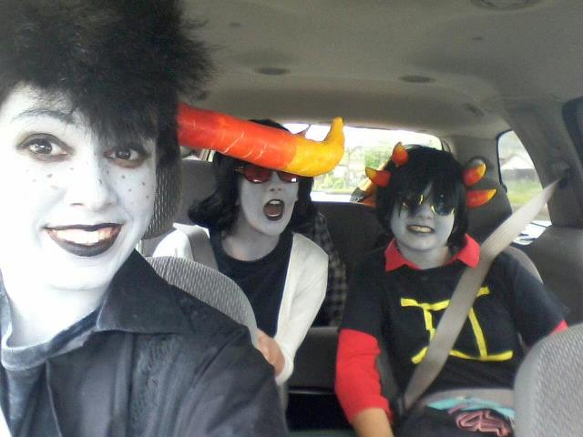 Tavros, Terezi, and Sollux Cosplay! by NishikihebiBikutoria