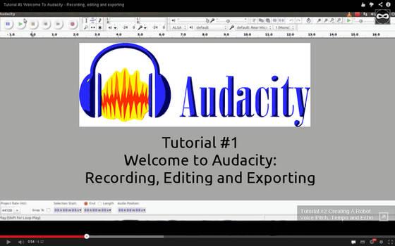 Tutorial #1 Welcome To Audacity. by WickedNinjaPresents