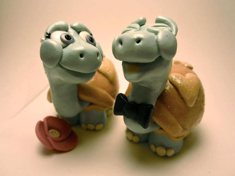 Turtle Wedding Cake Topper by TobbersToppers on DeviantArt