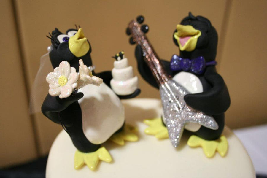 Penguins Wedding Cake Topper by TobbersToppers on DeviantArt