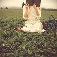 she reads in fields