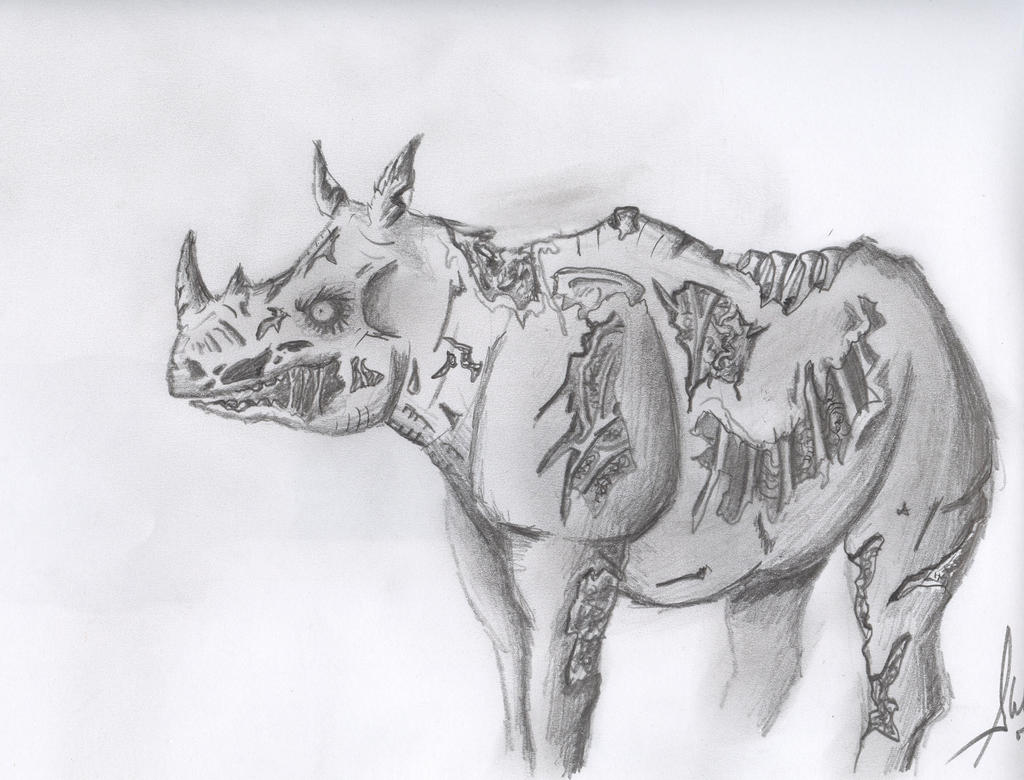 Zombie Rhino by DeathMetalJunkie on DeviantArt