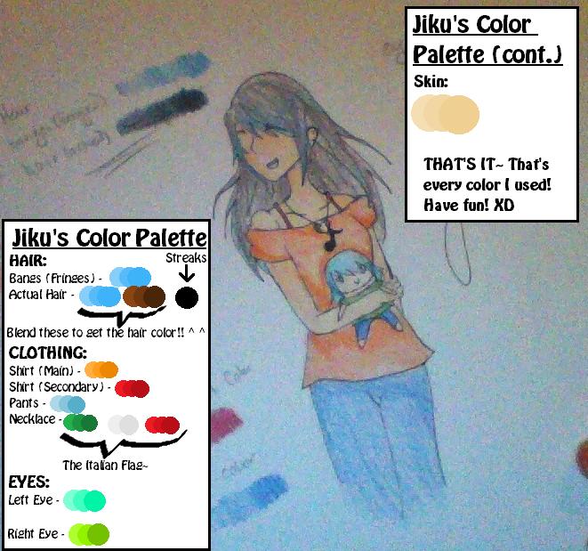 Jiku's Reference Chart (With Color Palette) by LuckyJiku