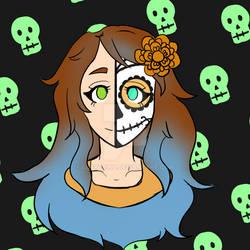 Mint Art Group Sketchtober Day 1 - Skull