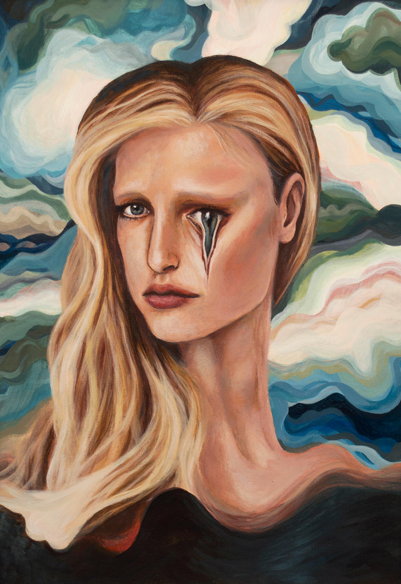 Woman with pursuant eye by ArtbyBernhardina