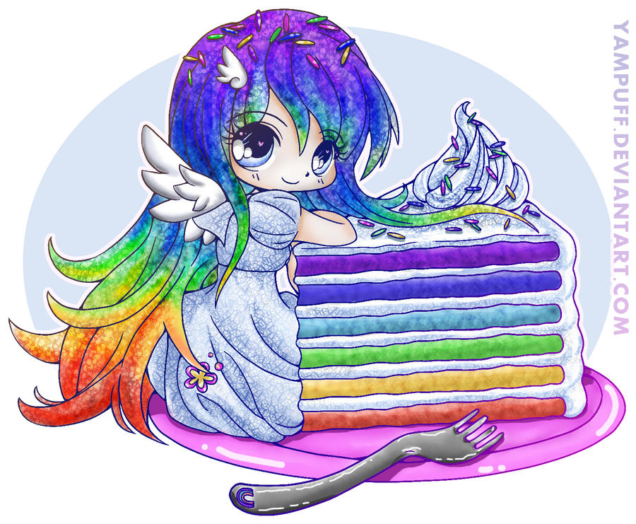 Healthy Rainbow Cake