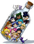 Sailor Senshi In A Bottle By Yampuff - Color