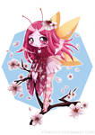 Cherry Blossom Fairy By YamPuff - Color