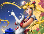 Sailor Moon Lineart By Rika Dono - Color