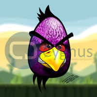 Angry bird by DaveDrumstick