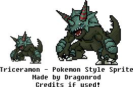 Triceramon - Pokemon Style Sprite