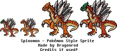 Spinomon - Pokemon Style Sprite