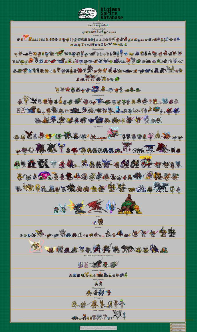 DragonRod's Digimon Sprite Database