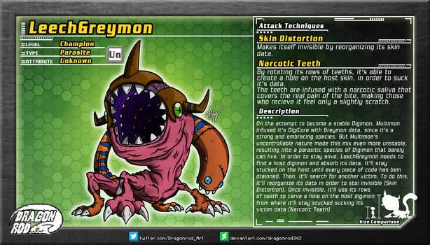 Fake Digimon - LeechGreymon