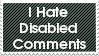 Disabled Comments