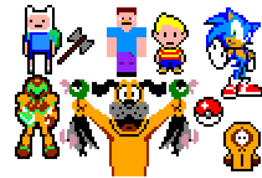 some pixel art i copied off of templates by thatgoatazzy on deviantart