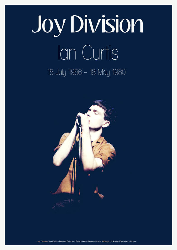 Ian Curtis poster by Okina-tyan