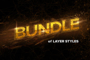 70 Text Effects Layer Styles Bundle