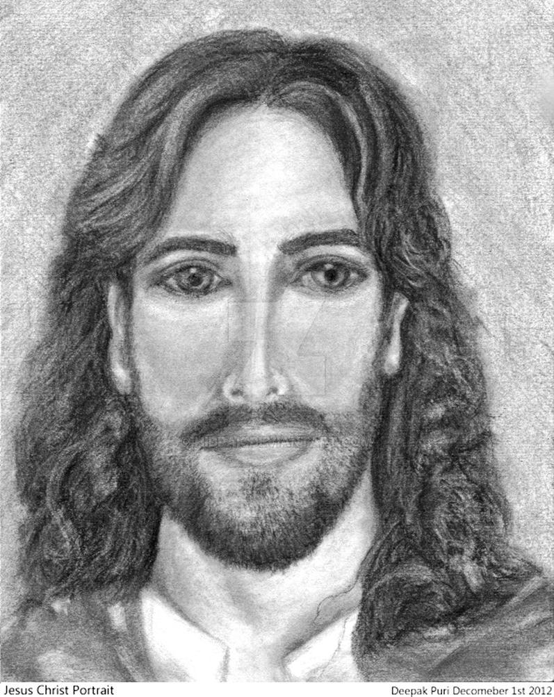 Jesus christ portrait pencil sketch by hidpak on deviantart