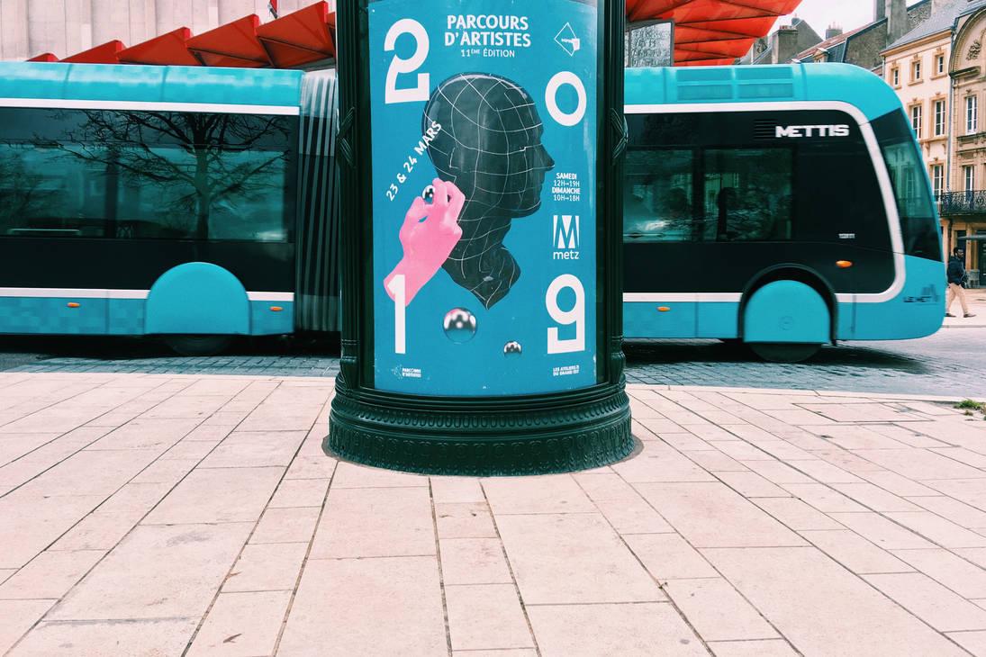 2019-Colonne Morris Metz Parcours Artiste by Olyy-Strange