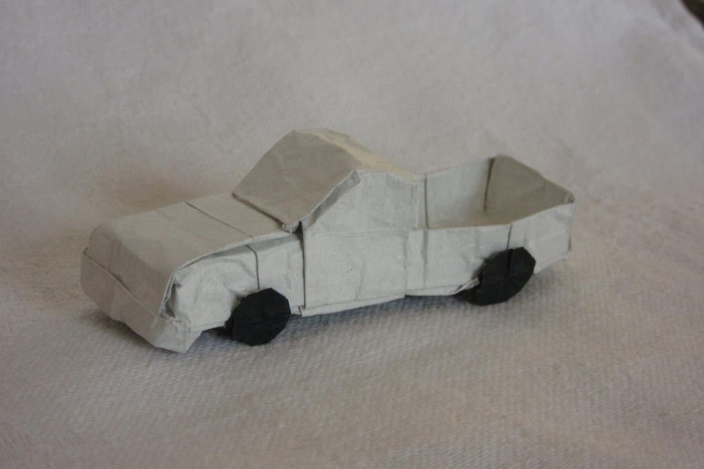 Origami Pick Up Truck By GenghisKhanIT