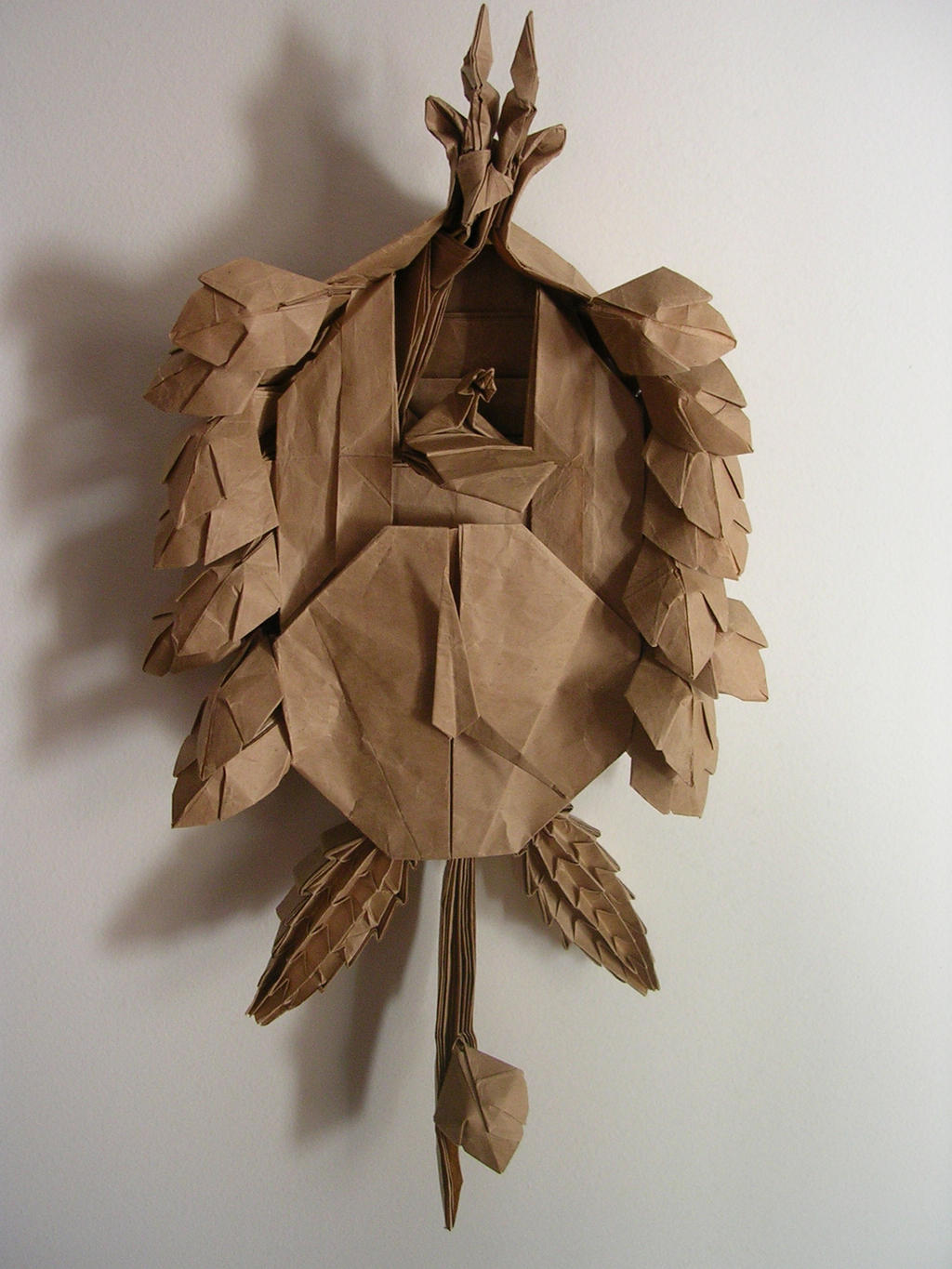 origami black forest cuckoo clock by