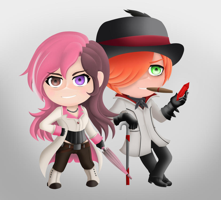 RWBY Chibi Style Neo And Roman By LobbyRinth On DeviantArt