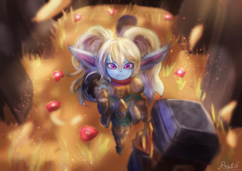 League Of Legends Poppy Wallpaper: FanArt League Of Legends : Poppy In Forest By Tales056 On