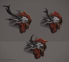 Creature head concepts by Nookiew