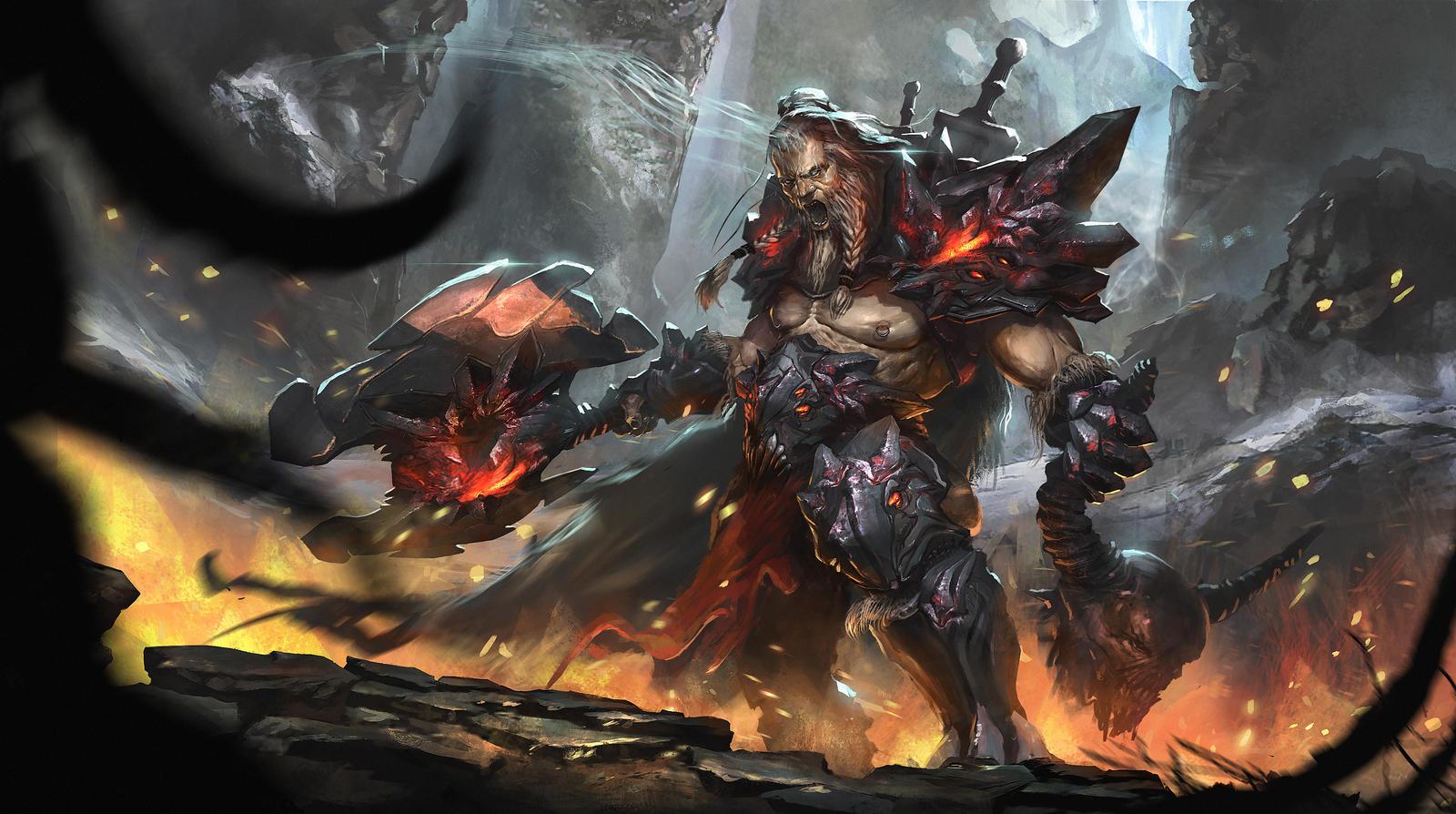 Diablo 3 - Barbarian by Nookiew