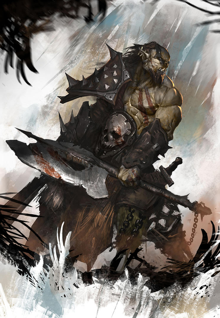 Orc illustration by Nookiew