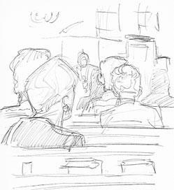 doodles in church