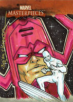 Galactus Surfer Marvel Card by gravyboy