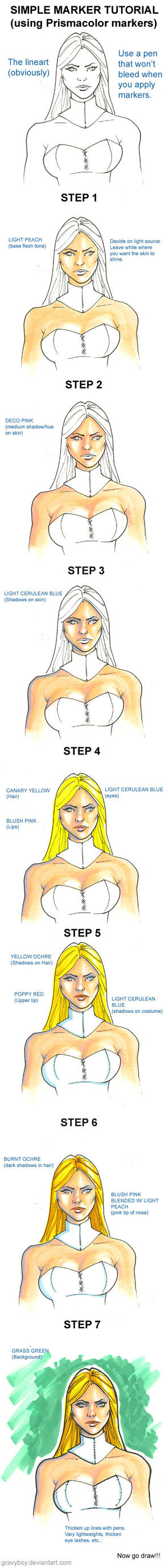 Simple Marker Tutorial by gravyboy