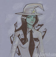 Deputy Witch Canson Sketch by gravyboy