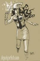 Deputy Witch Sketch 2 by gravyboy