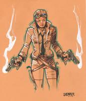 Daily Sketch: Pilot Girl by gravyboy