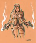 Daily Sketch: Pilot Girl