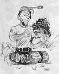 Daily Sketch: Greatest Tank Battle...ever. by gravyboy