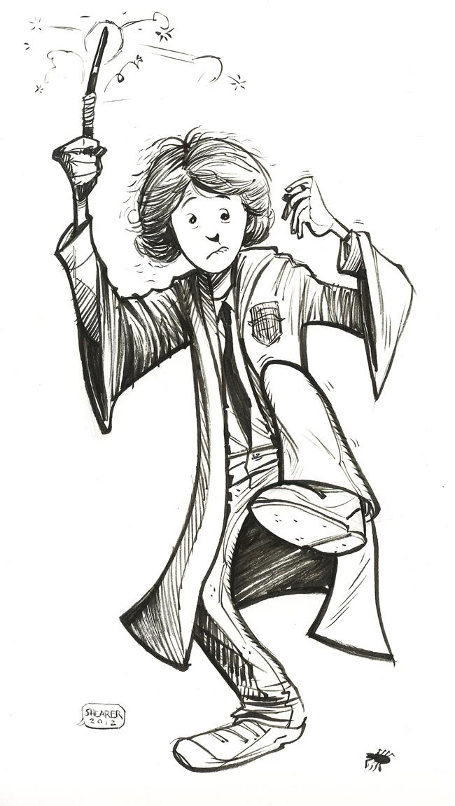 Daily Sketch: Ron Weasley by gravyboy