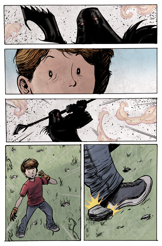 A page from an upcoming comic 6