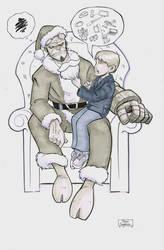 Hellboy Santa by gravyboy