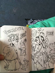 sketch book zombies