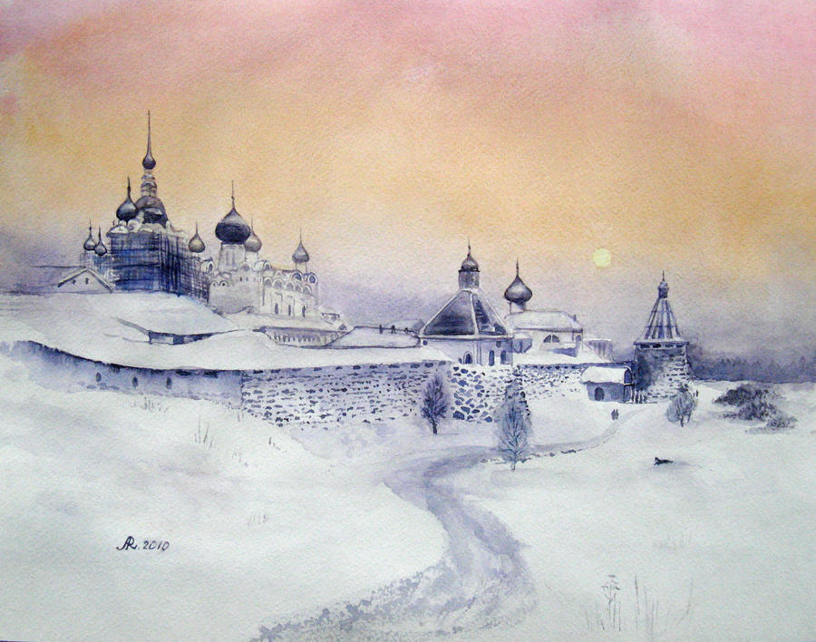 Solovetsky monastery by Metttko