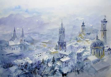Lviv, the winter by Metttko