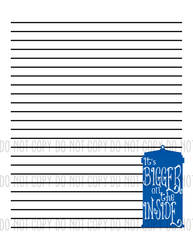 TARDIS Worded Stationary by holsen08