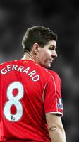 Steven Gerrard iPhone Wallpaper