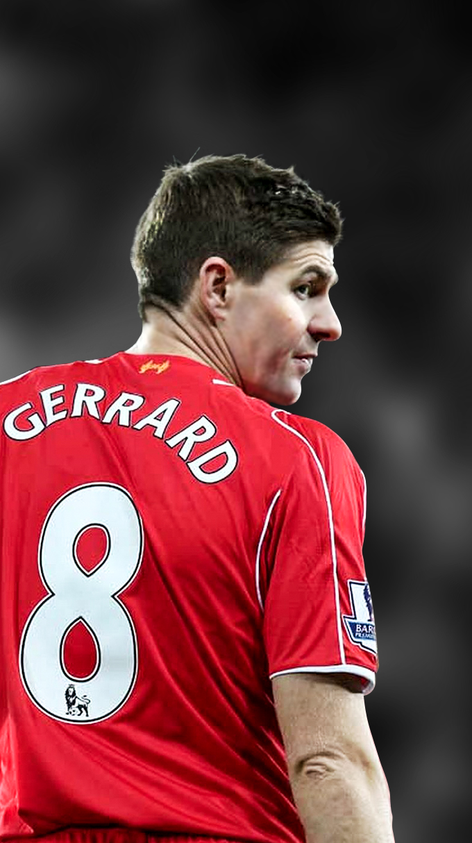 Steven Gerrard iPhone Wallpaper by xerix93